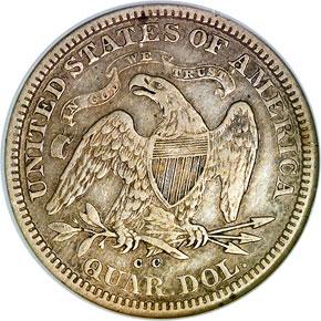 1872 CC 25C MS reverse