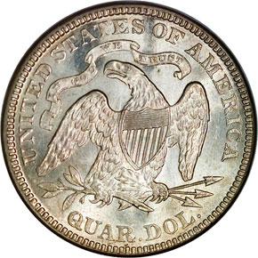 1876 25C MS reverse