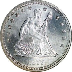 1877 S 25C MS obverse