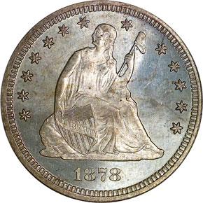 1878 25C MS obverse