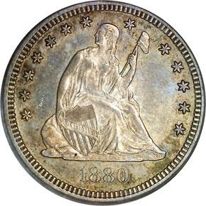 1880 25C MS obverse