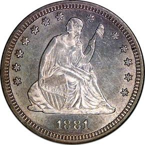 1881 25C MS obverse
