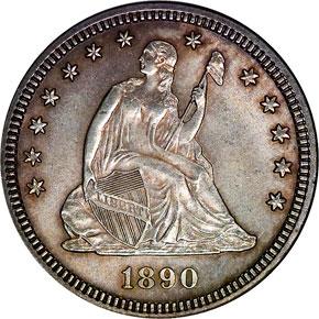 1890 25C MS obverse