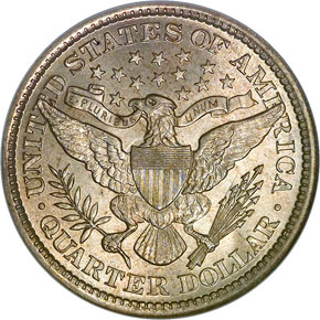 1893 25C MS reverse