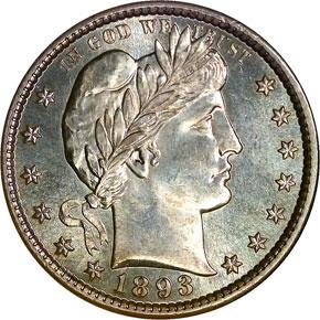 1893 S 25C MS obverse