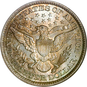 1896 25C MS reverse