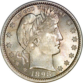 1898 25C MS obverse