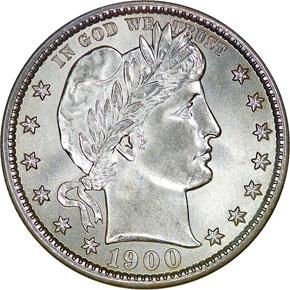 1900 25C MS obverse