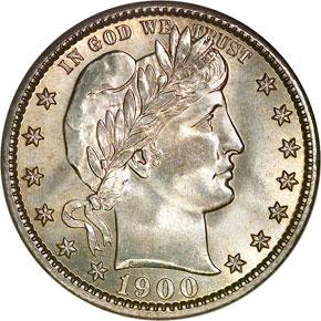 1900 O 25C MS obverse