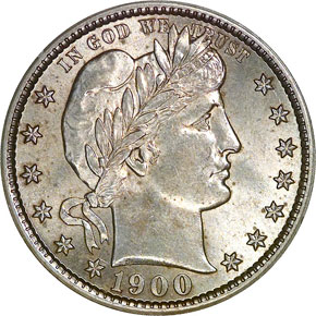 1900 S 25C MS obverse