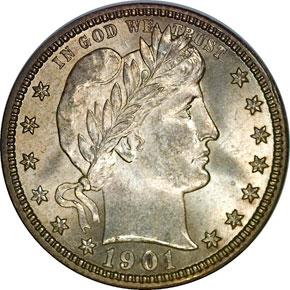 1901 O 25C MS obverse