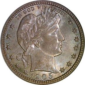1905 S 25C MS obverse