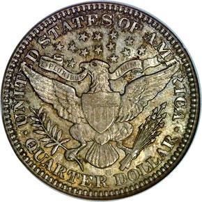 1906 D 25C MS reverse