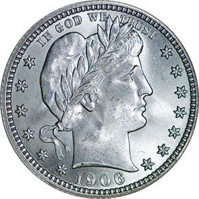 1906 O 25C MS obverse