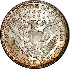 1908 D 25C MS reverse