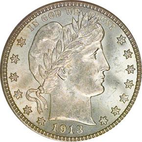 1913 D 25C MS obverse