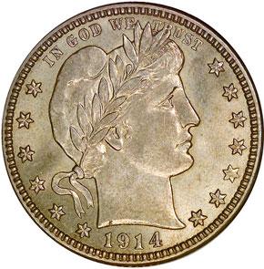 1914 D 25C MS obverse