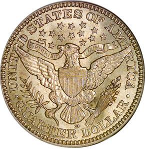 1914 D 25C MS reverse