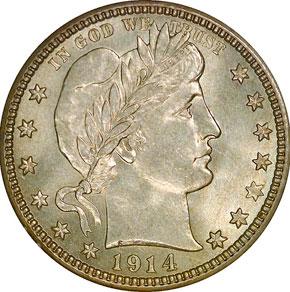 1914 S 25C MS obverse