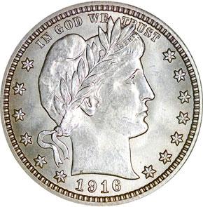 1916 BARBER 25C MS obverse