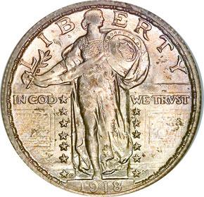 1918 S 25C MS obverse