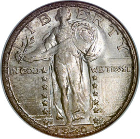 1920 S 25C MS obverse