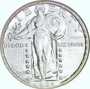 1924 D 25C MS obverse