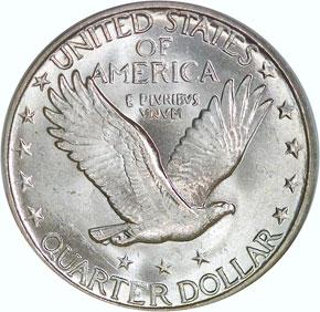 1928 D 25C MS reverse