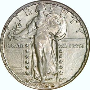 1929 D 25C MS obverse