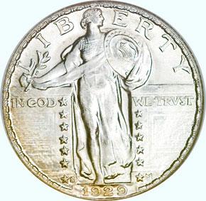 1929 S 25C MS obverse