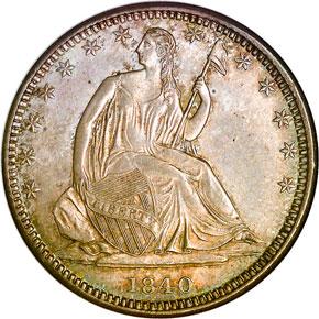 1840 O 50C MS obverse