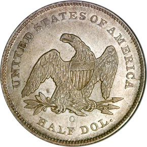 1841 O 50C MS reverse