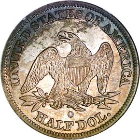 1842 O MED DATE 50C MS reverse
