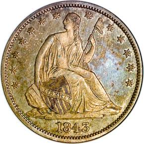 1843 O 50C MS obverse