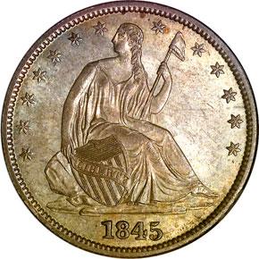 1845 O 50C MS obverse