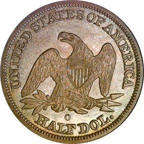 1845 O 50C MS reverse