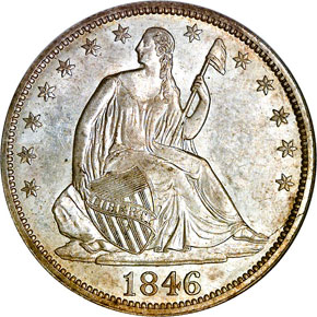 1846 TALL DATE 50C MS obverse