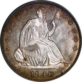 1848 50C MS obverse