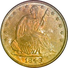 1849 O 50C MS obverse