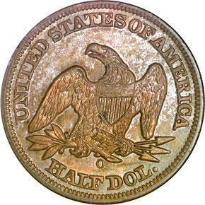 1849 O 50C MS reverse
