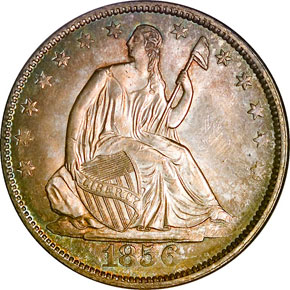 1856 50C MS obverse