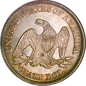 1856 50C MS reverse