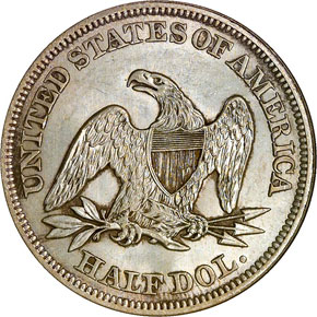 1858 50C MS reverse