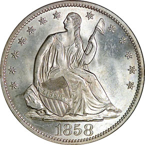 1858 S 50C MS obverse