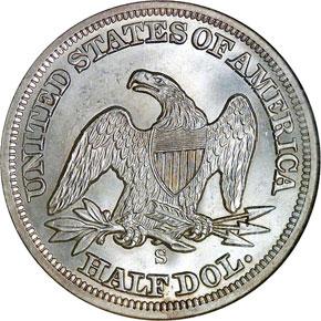 1858 S 50C MS reverse