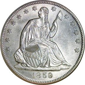 1859 S 50C MS obverse