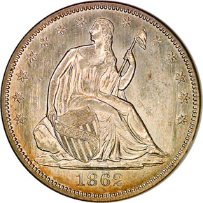 1862 50C MS obverse