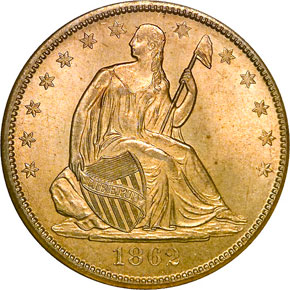 1862 S 50C MS obverse