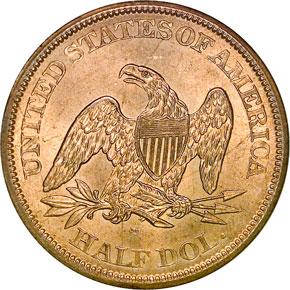 1862 S 50C MS reverse
