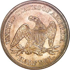 1865 50C MS reverse